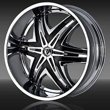 "28"" Diablo Elite Wheels Chrome Rims Escalade H2 Yukon Silverado GMC 26 30 22 24"