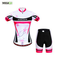 Lady Cycling Jersey Shorts Sets MTB Road Bike Elastic Shirts Short Pants Padded