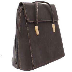 Visconti Oiled Leather Julia Backpack/Shoulder Bag 18001 Oil Brown
