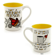 Not Morning Person 16oz Our Name is Mud Enesco stoneware coffee mug cup 4041546