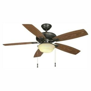 Hampton Bay Gazebo 52 in. LED Indoor/Outdoor Natural Iron Ceiling Fan w/Light K.