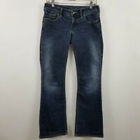 Silver Aiko Boot Cut Womens Dark Wash Blue Jeans Size 28 x 33