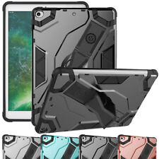 Heavy Duty Hybrid Kickstand Case with Hand Strap For Apple iPad 9.7 2017 5th Gen