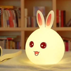 Rabbit 7 Colors Silicon Lamp Led USB Night light For Children Kids Gift Cartoon