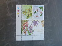 2002 MALAYSIA 17th WORLD ORCHID CONF. BLK 4 DIFF MINT ORCHID STAMPS MNH #2