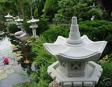 Japanische Steinlaterne Vogelhaus Koi Teich...