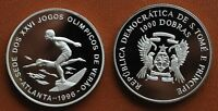 ST.TOME PRINCIPE -PROOF 1000 DOBRAS COIN 1996 SWIMMERS