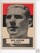 1959 Wheaties Canadian Football Card #15 Russ Jackson-Ottawa Roughriders