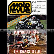MOTO REVUE N°2522 GUZZI 850 LE MANS III 3 BOL D'OR & D'HERBE 24 HEURES SPA 1981