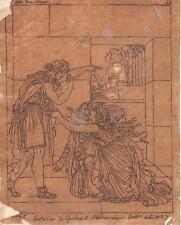 Dessin néo-classique. Dumont, Girodet, Racine, Andromaque. Drawing 19th XIXe s.