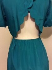 ANTHROPOLOGIE LUSH EMERALD GREEN CUT OUT DRESS SIZE S