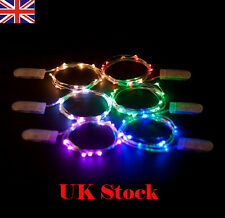 Flexible Bendable LED Micro Copper Wire String Fairy Light CR2032 Batteries UK