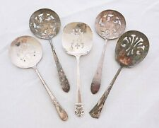 VINTAGE SILVER PLATE SILVERWARE FLATWARE TOMATO SERVER TABLE USE LOT OF 5 lot A