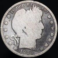 1906 D | U.S.A. Barber Half Dollar | Silver | Coins | KM Coins