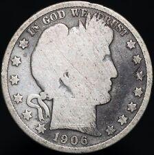 More details for 1906 d   u.s.a. barber half dollar   silver   coins   km coins