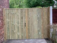 Wooden Driveway Gates High Quality Pressure Treated Redwood Bespoke Gates
