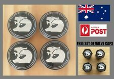 HSV Wheel Centre Caps Set Holden 63mm VZ VE VF GTS R8 Commodore Free Valve Caps