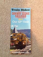 2016 CONWAY SCENIC RAILROAD TIMETABLE AND BROCHURE