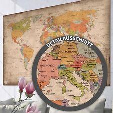 Weltkarte Poster Vintage Antik Antike Landkarte XXL Retro Wandbild Bild Deko Alt
