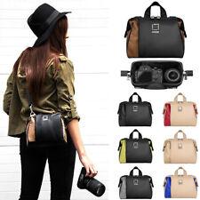 Lencca Leather Camera Shoulder Bag For DSLR Nikon D5 D890 D810A D810 D750 D610