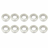 10x 6205 ZZ Metal Shielded Deep Groove Ball Bearings - 25x52x15 mm