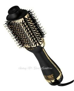 NIB HOT TOOLS 24K Gold Charcoal Infused One-Step Pro Blowout Styler Hair Brush