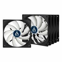 5 x Pack of Arctic F12 120mm 12cm PC Case Fan, 1350 RPM, 53CFM, 3 Pin