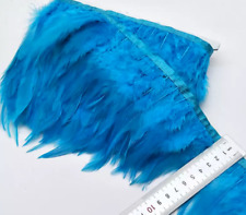 Aqua Blue Rooster Feather Fringe Ribbon Trim ( for 30cm) DIY Craft Costume