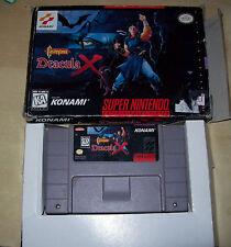 Castlevania: Dracula X Super Nintendo SNES RARE box & cart  Original Authentic!