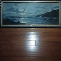 Vintage Randolph Moonlight Surf Painting.