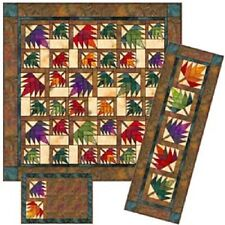 New Paper Pieced Quilt Pattern  52X64   MAPLE LEAF Lap Quilt  4 Projects