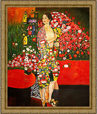 The Dancer by Gustav Klimt 85cm x 72.5cm Framed Ornate Gold