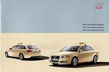 Prospekt Audi A4 A6 Taxi Mietwagen 2005 Autoprospekt 4 05 Auto Pkw car brochure