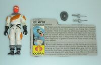 1987 GI Joe Cobra Snow Ice Viper v1 Wolf Driver Figure w/ File Card *Complete