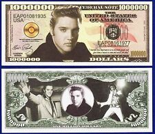 1-Elvis Presley Million Dollar Bill -Collectible - Novelty  MUSIC MONEY -D1