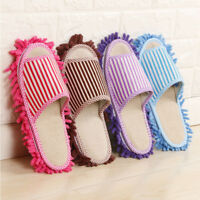 1 Pair Microfiber Durable Cleaning Mop Slippers Shoes House Floor Foot Shoes