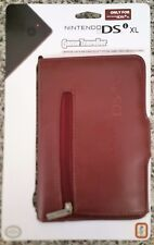 LEATHER-LOOK LIGHT BROWN GAME TRAVELLER CASE for NINTENDO DSi XL brand new UK