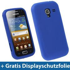 Blau Silikon Tasche für Samsung Galaxy Ace 2 I8160 Android Schutz Hülle Etui