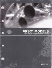 2016 Harley VRSC VRSCDX VRSCF Part Parts Catalog Manual Book 99457-16