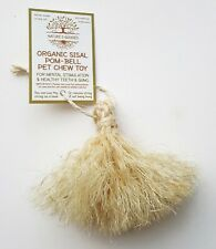 Organic Sisal Pom-Bell Pet Chew Toy for Rabbit Guinea Pig Chinchilla Small Pets