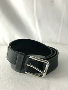 Michael Kors Black Synthetic Material Leather Silver Buckle, Style # 556003, L