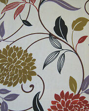 Canvas Fabric Fleur Medium Weight 100 Cotton 140cm Wide per Metre