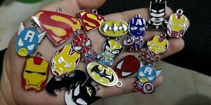 lot 60 Pcs cartoon avengers Charm earrings necklace Pendants DIY Jewelry Makings