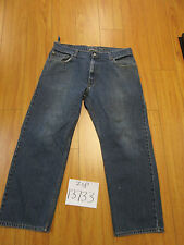 Used Levi 559 relaxed straight blue jean 36x30 meas 35x27  zip13733