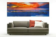 seacape oil painting ocean Australia Eastern Sunrise sea sunset By Jane 63""