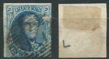 Belgium Belgica Scott # 7 (o) 1851