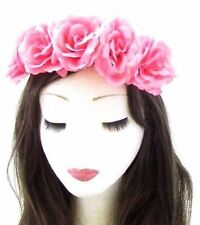 Rose Rose Fleur Serre Tête Guirlande Halloween Cheveux Couronne