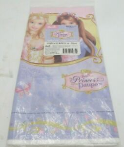 Mattel BARBIE  PRINCESS And The PAUPER  Plastic Table Cover by Hallmark