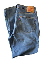 Levis 550 Relaxed Fit Red Tab Denim Blue Jeans 100% Cotton Men's Size 36 x 32