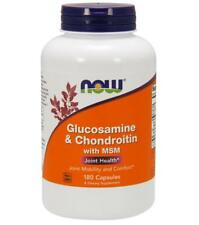Glucosamine & Chondroitin with MSM 180 caps by NOW Foods